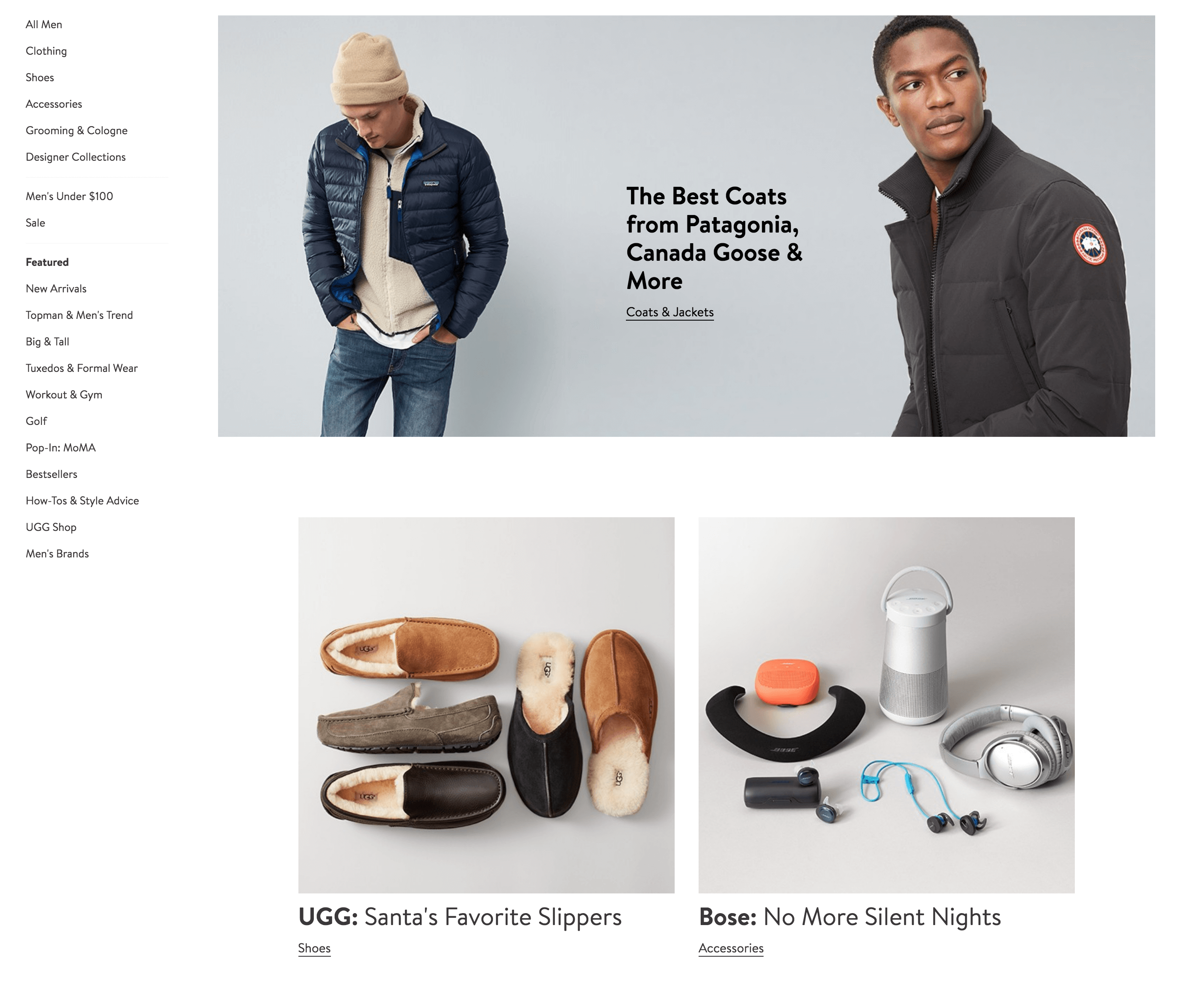 2nd screenshot of a Nordstrom topic preview page