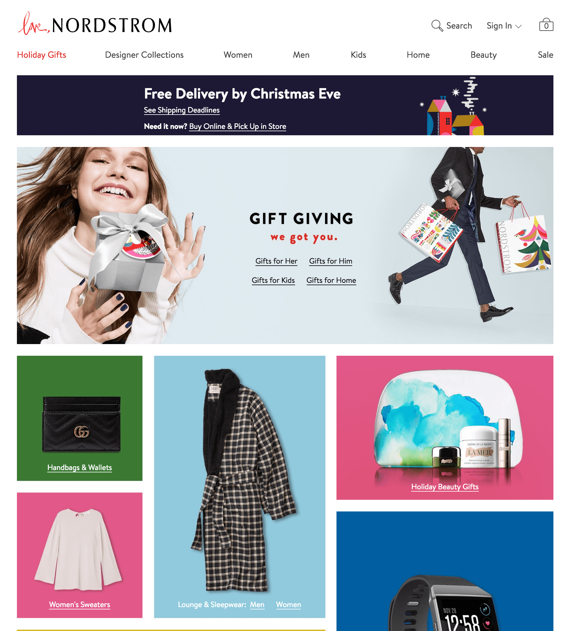 Screenshot of a Nordstrom topic preview page