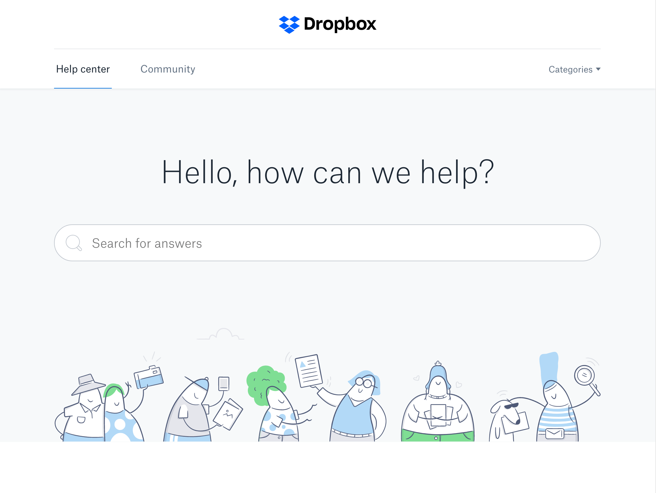 Screenshot of illustration at Dropbox