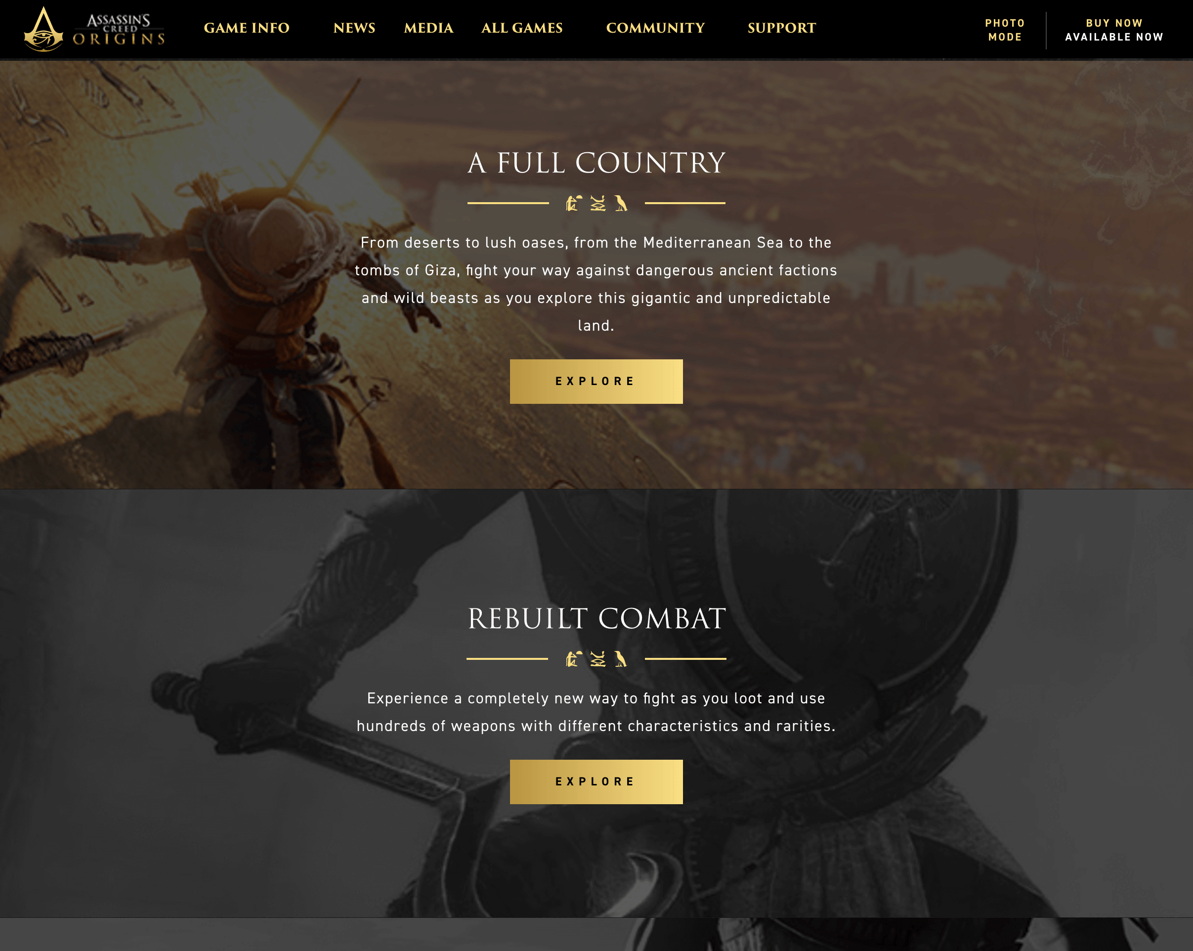 Another screenshot of Ubisoft's website