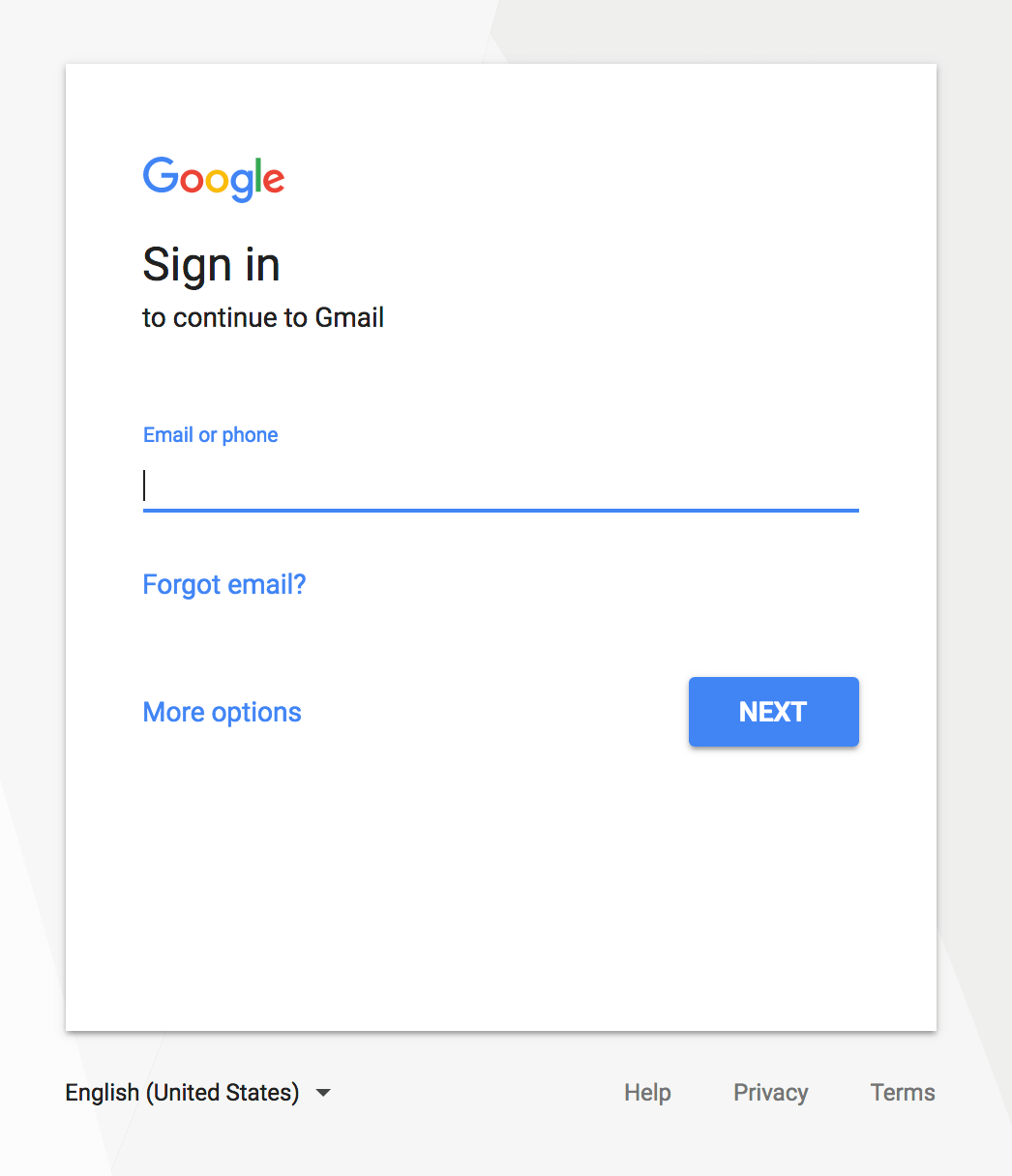 Example of a shadow effect applied to a button in Google's design