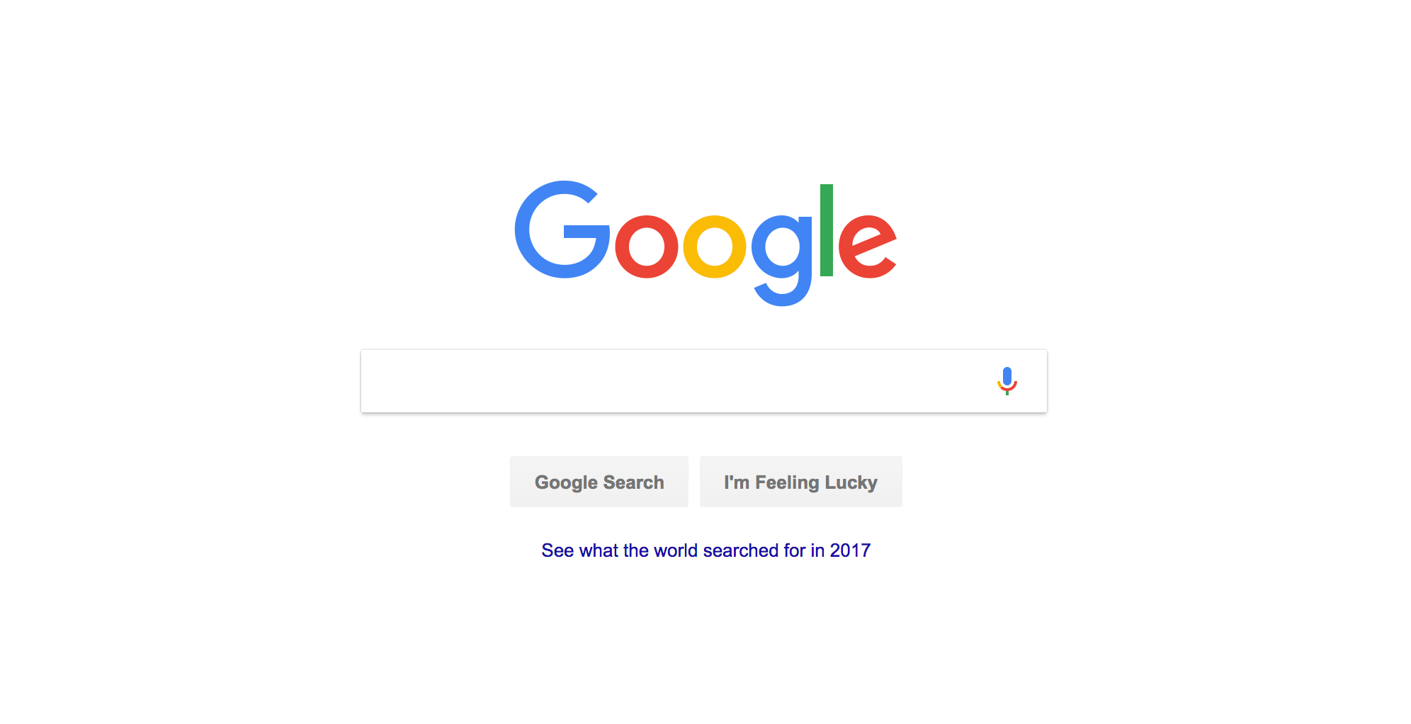 Example of a shadow effect in Google's design
