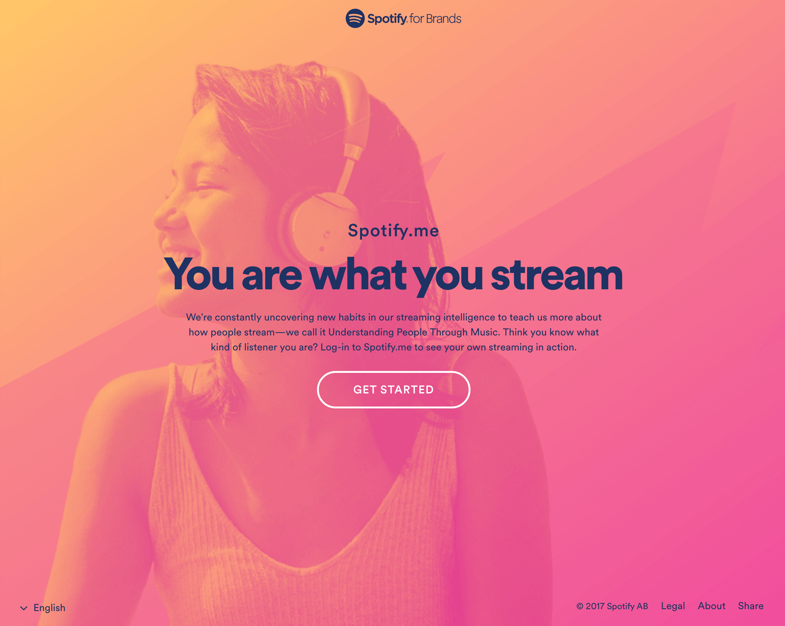 Example of a gradient effect in Spotify's design